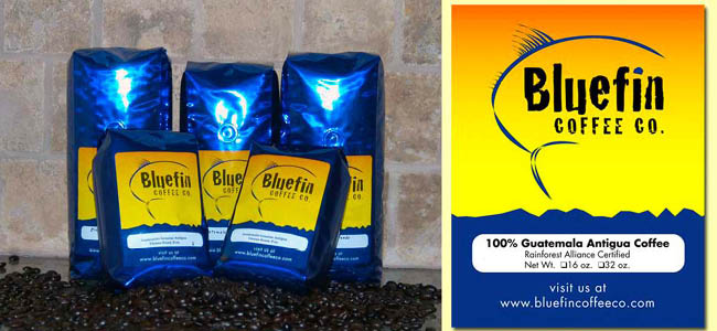 Bluefin Coffee Co. - Packaging