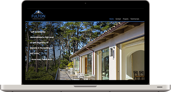 Fulton Construction - Monterey Web Design