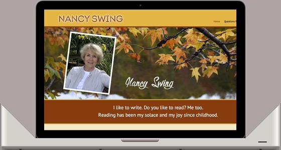 Nancy Swing, Author - Monterey Web Design