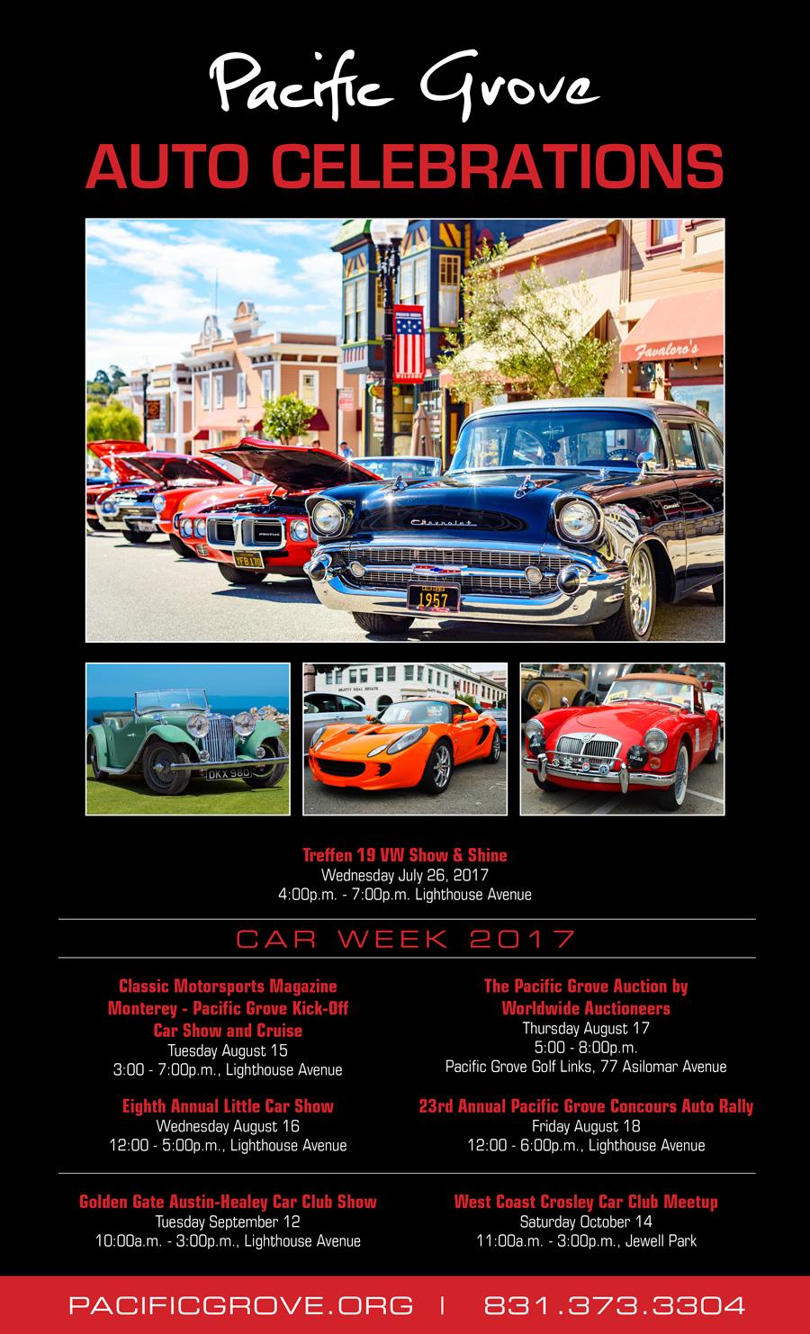 Pacific Grove Auto Celebrations