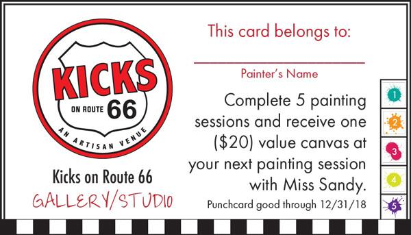 Kicks 66 Crosslake Punchcard