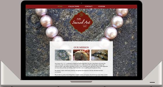 AUM Sacred Art Website - Monterey Web Design