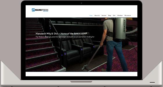 Manutech Website - Monterey Web Design