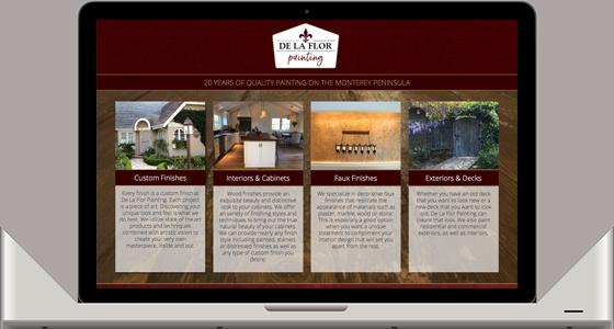 De la Flor Painting Website - Monterey Web Design