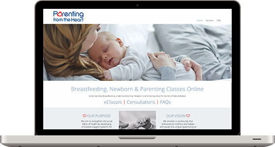 Parenting From the Heart - Monterey Web Design