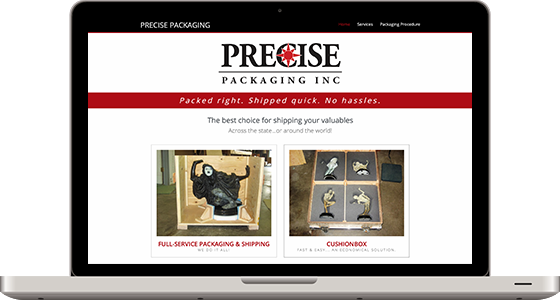 Precise Packaging - Monterey Web Design