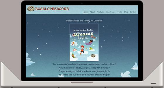 Rose Lopez Books - Monterey Web Design
