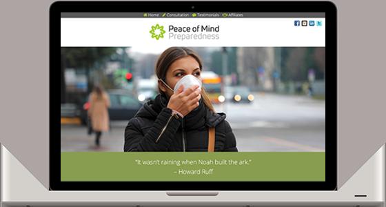 Peace of Mind Preparedness - Monterey Web Design