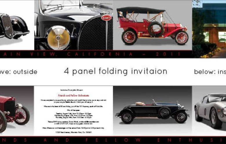 Privately Owned Car Museum Invitation