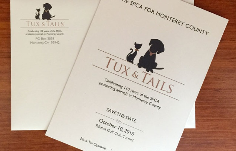 SPCA for Monterey County Save the Date Stationery