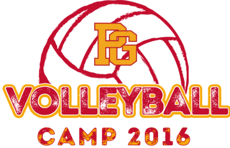 Pacific Grove High School Volleyball Camp T-shirt Design