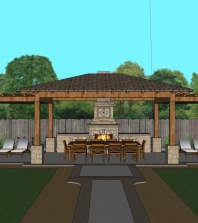 Proposed Covered Outdoor Patio – 3D Model